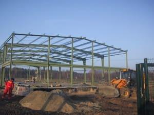 Hala produkcyjna o powierzchni 1200m² - konstrukcja